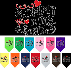 Mommy is my Bestie Screen Print Pet Bandana
